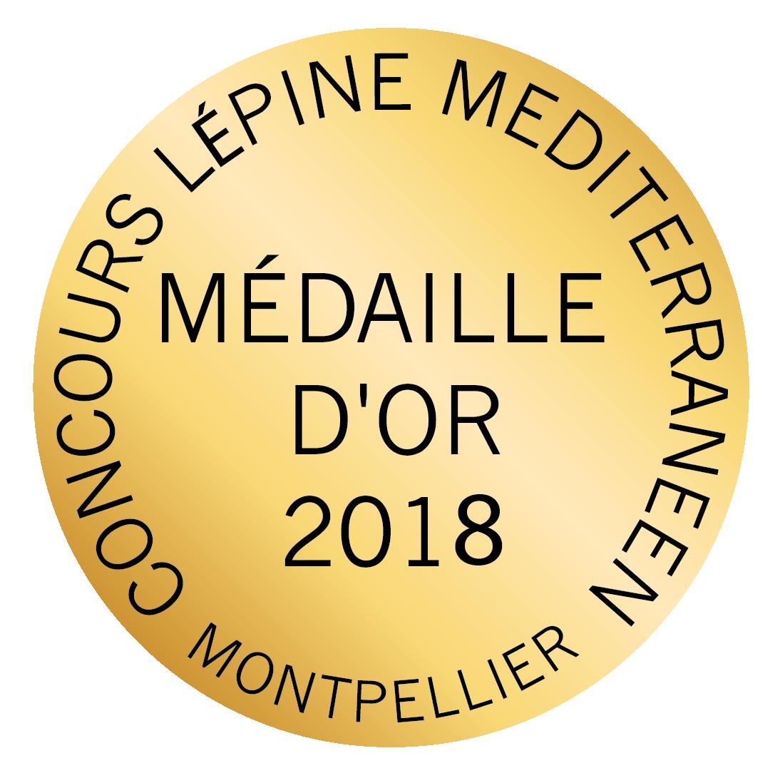 Médaille d'or concours lépine méditerranéen 2018